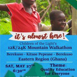 WALKATHON! Theme: QUALITY EDUCATION FOR EVERYONE