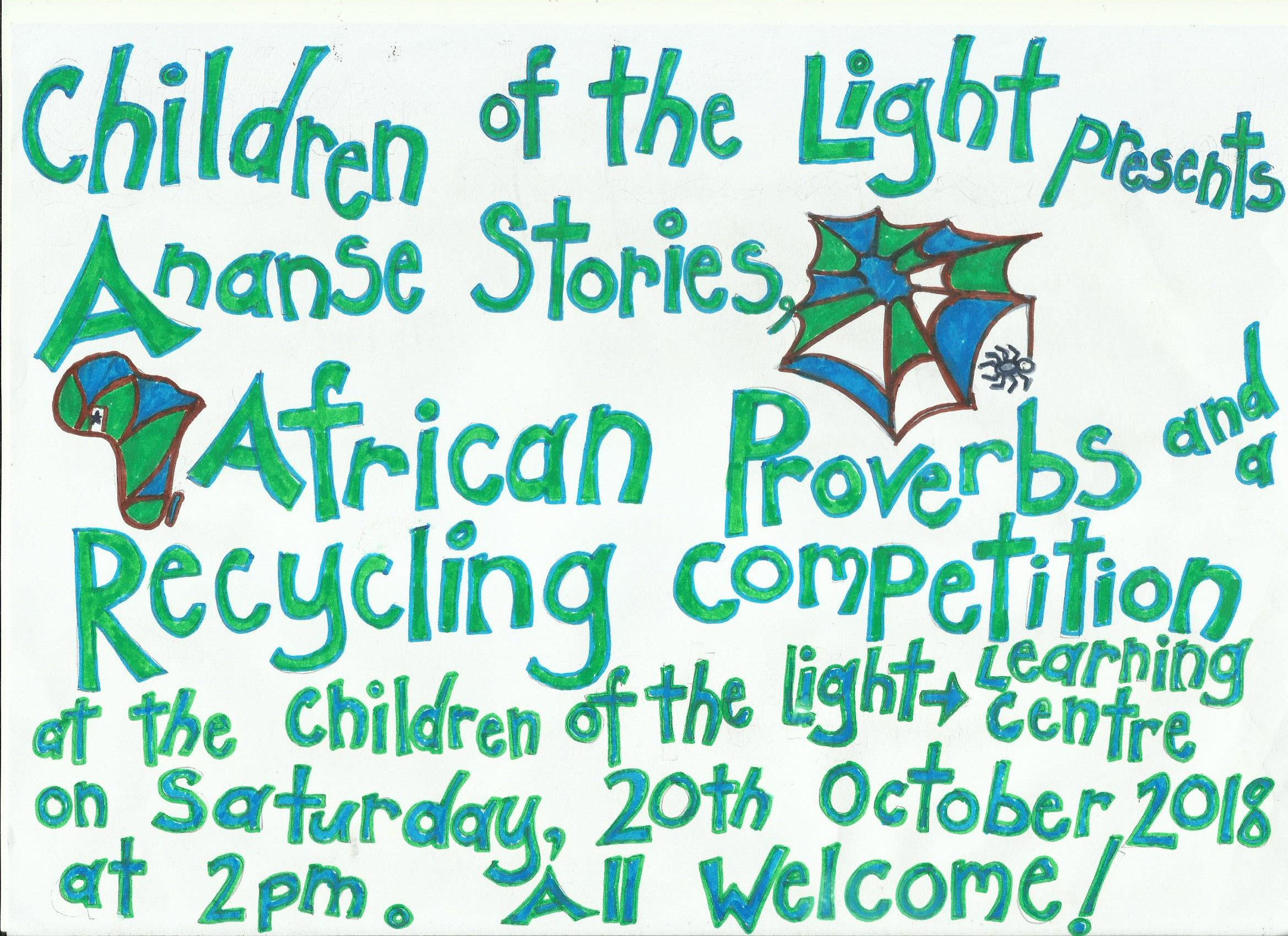 Ananse Stories, African Proverbs and a Recycling Competition - October 2018